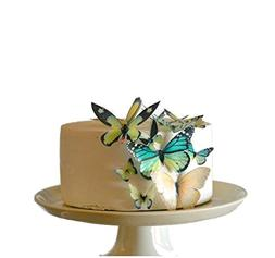 Edible Butterflies © - Assorted Green Set of 15 - Cake and