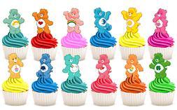 EDIBLE Care Bears Wafer Card Sheet Stand Up Cupcake Cake Top