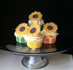 Edible Sunflowers -Set of 12 - Cake and Cupcake Toppers, Dec
