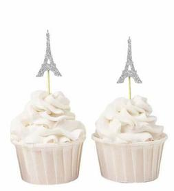 eiffel tower cupcake toppers wedding party dessert