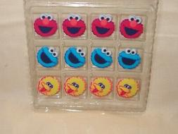 Elmo,Cookie Monster,Edible Sugar Cupcake Toppers,DecoPac,12