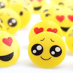 Amy&Benton 60PCS Emoji Cupcake Rings for Kids, Emoticon Part