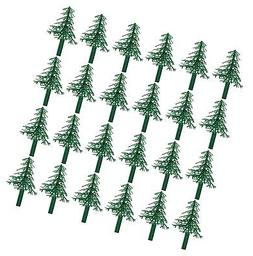 Evergreen Trees for Cake and Cupcake Decorating 24-Pack