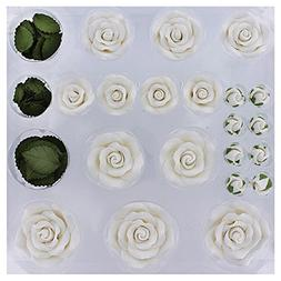 Exquisite Rose & Leaf Tray White, Unwired by Chef Alan Tetre