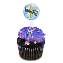 Faith Cross and Clouds Religious Inspiration Cake Cupcake To