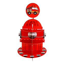 Blue Orchards Fire Hydrant Cupcake Stand & Pick Kit, Fireman