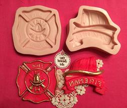 Firefighter, Fireman, Fireguard ,fondant, soap cupcake toppe