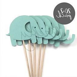 FIREFLY 20 Cupcake Toppers + 2 Cake Toppers Gender Reveal Ba