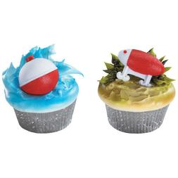 Fishing Cake Toppers Fishing Lure and Bobber Cupcake Rings O