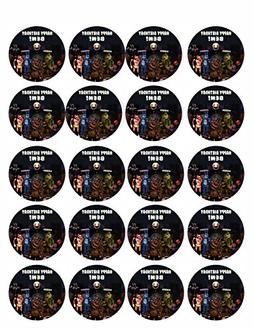 """Five Nights at Freddy's  - Edible Cupcake Toppers - 1.8"""" cup"""