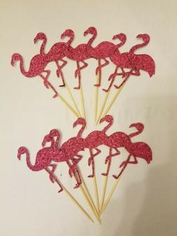 Flamingo Cupcake Toppers - Cupcake Decorations - Set of 12 -