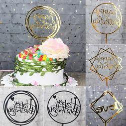 <font><b>Glitter</b></font> Happy Birthday Cake <font><b>Top