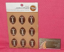 Football Icing Decorations,Edible Sugar Cupcake Toppers,Wilt