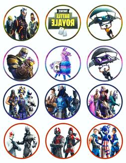 FORTNITE Birthday Cupcake Toppers Icing Sugar Paper