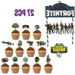 Fortnite Cake Topper And Cupcake Toppers