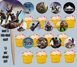 FORTNITE Cupcake Picks Double-sided Images Cake Topper -12,