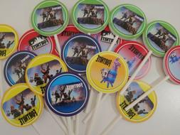 Fortnite cupcake toppers, 24 pieces. Paper cupcakes, kids pa
