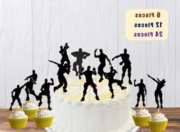FORTNITE Video Game Birthday Party Gamer Dancer Cupcake Topp