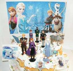 Disney Frozen 2 Movie Cake Toppers 13 Set 10 Figures Elsa An