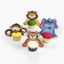 Fun Express FX 70/7501-24 Zoo Animal Character Cupcake Picks