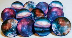 GALAXY Nebula Celestial Cupcake Toppers Party Favor Rings 12