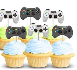 Video game controller cupcake toppers 12 ct - Boy birthday p