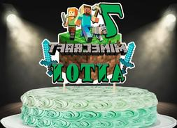 Gamer Cake Topper, Personalized Cake Topper, Custom cake Top