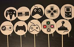 Video Games Theme Cupcake Toppers/Video game cupcake toppers