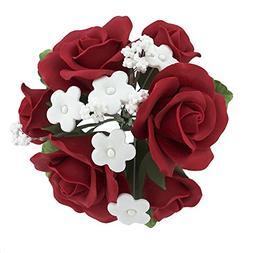 Garden Rose Topper Bouquet Deep Red by Chef Alan Tetreault