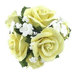 Garden Rose Topper Bouquet Yellow by Chef Alan Tetreault