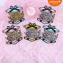 Gift Box Happy Birthday Cake <font><b>Topper</b></font> Kids