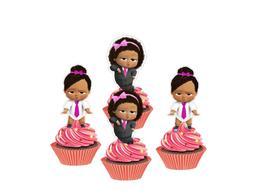 Girl Boss Baby cupcake toppers, Baby Girl Boss cakepop toppe