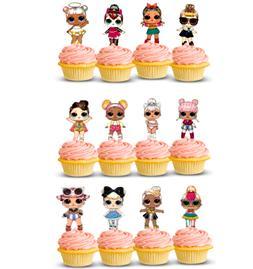 LOL Surprise Doll GLAM GLITTER Cupcake Topper