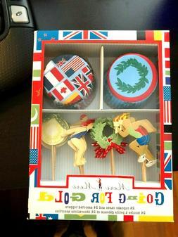 Meri Meri Going for Gold Summer Olympics Kit 24 cupcake case