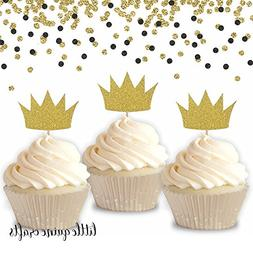 12 pc gold crown cupcake topper wild one where the wild thin