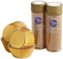 Wilton Gold Cupcake Decorating Kit, 4-Piece - Gold Baking Cu