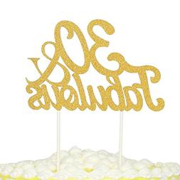 PALASASA Gold Glitter 30 & Fabulous Cake Topper, Wedding, Bi