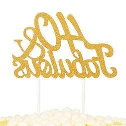 PALASASA Gold Glitter 40 & Fabulous Cake Topper, Wedding, Bi