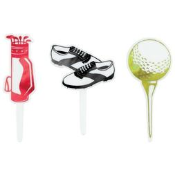 GOLF Cupcake Picks Toppers 12 pcs Father's Day Birthday Cake