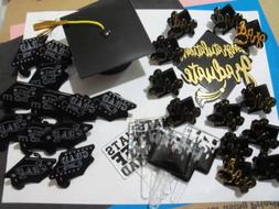 Graduation Cake Topper Party Grad 24 Cupcake Rings & 2 Toppe