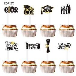 Graduation Cupcake Toppers 2019 Party Decorations Picks Toot