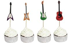 Guitar Cupcake Toppers Food Picks Music Birthday Toppers 24