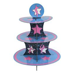 Gymnastics Cupcake Stand & Pick Kit, Gymnast Party Supplies,