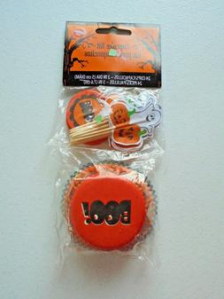 Wilton Halloween BOO Cupcake Liners & Ghost Pumpkin Picks To