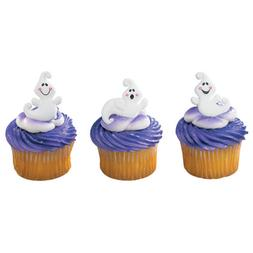 Halloween Cake Toppers Friendly Ghost Cupcake Rings One Doze