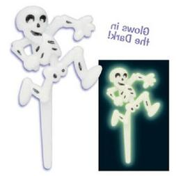 Halloween Cake Toppers Ghost Cupcake Picks One Dozen Glow in