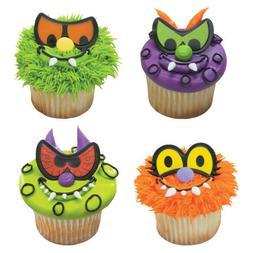Halloween Cake Toppers Scary Eyes Cupcake Picks One Dozen