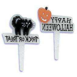 Halloween Cake Toppers Trick or Treat Cupcake Picks One Doze