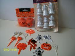 Halloween Cupcake Toppers Wilton Bobbling Ghosts Pumpkin Pic