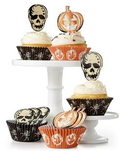 Martha Stewart Halloween Party Cupcake Liners and Toppers 48